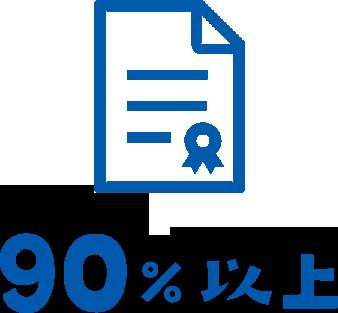 90%以上